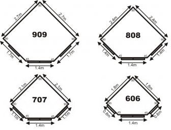 Dimensions for our corner buildings